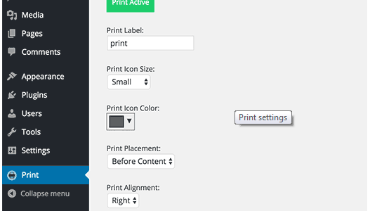 Printer to wordpress