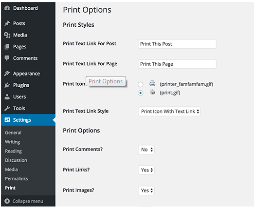Printer to wordpress