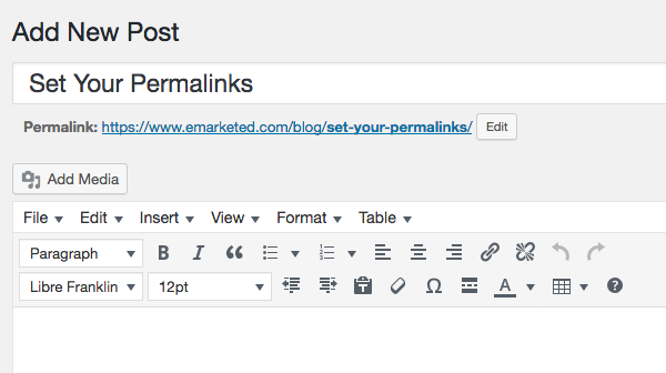 Set Your Permalinks