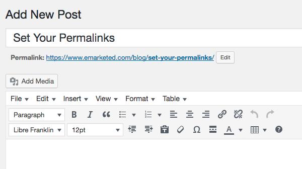 Set Your Permalinks